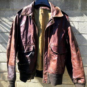 Vintage Schott I.S. 674 Leather jacket small med